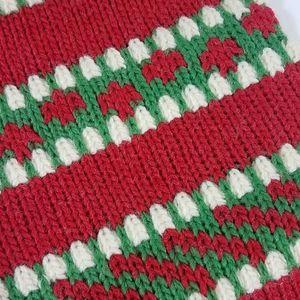 Kurt Adler Holiday - Kurt S Adler Heavy Yarn Knit Holiday Stocking NWT